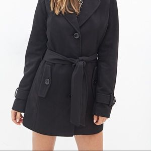 FOREVER 21 Hooded Pea Coat